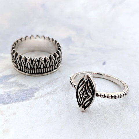 Christine Alaniz Designs Protea Stacking Rings
