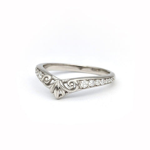 Christine Alaniz Designs - Custom Platinum and Diamond Wedding Ring