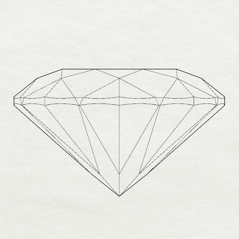Christine Alaniz Designs round brilliant diamond diagram
