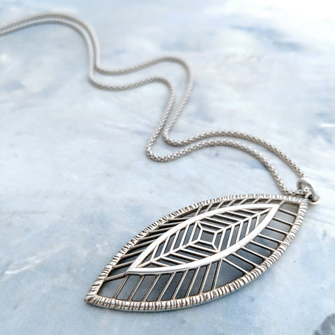 Christine Alaniz Designs Magnolia Necklace in sterling silver