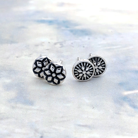 Christine Alaniz Designs Magnolia Mini Stud Earrings in sterling silver
