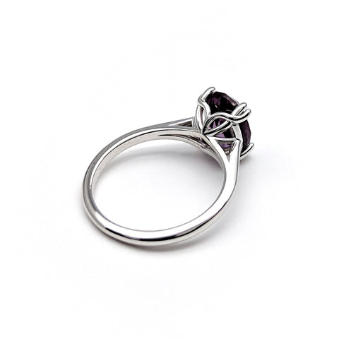 Christine Alaniz Designs Custom Jewelry Oval Amethyst and White Gold Ring