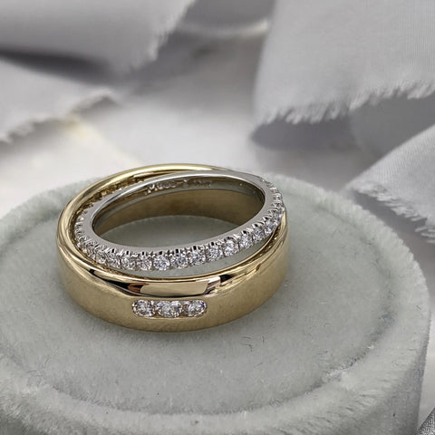 Christine Alaniz Designs - Custom Wedding Ring Set