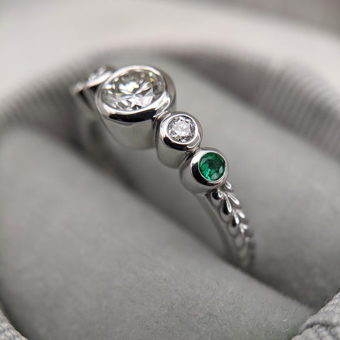 Christine Alaniz Designs - Heirloom Redesign, Finished Birthstone Ring