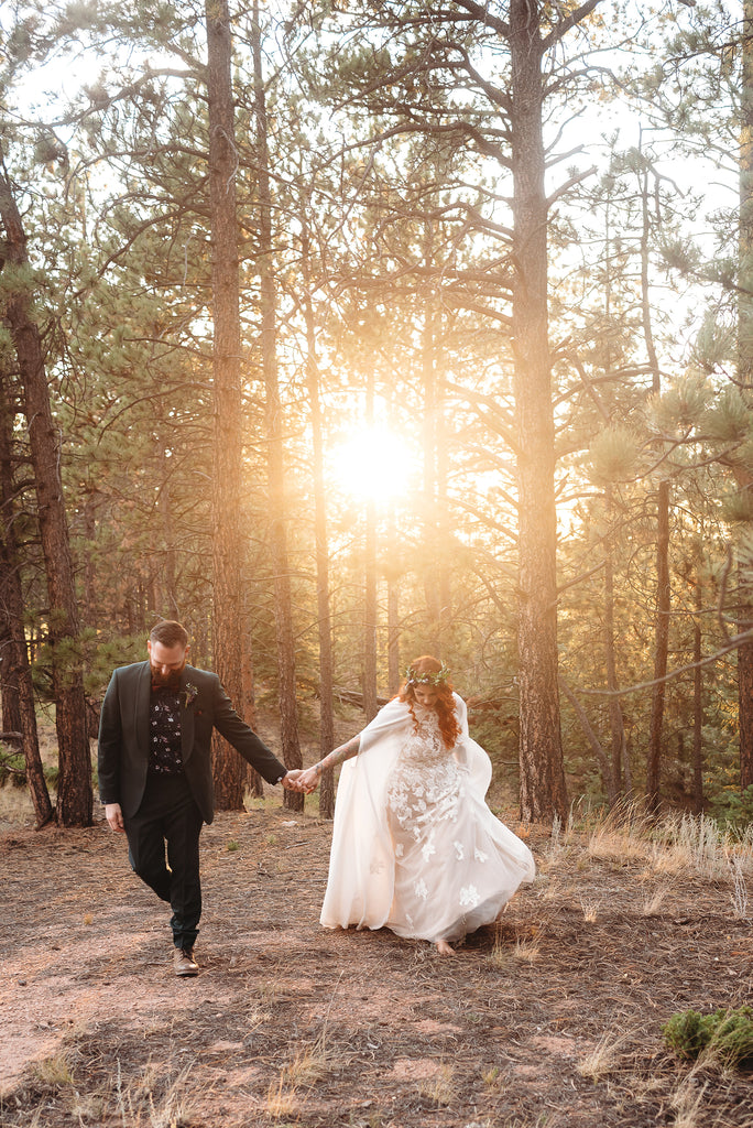 Christine Alaniz Designs - Kadi and Ben Wedding, Colorado Sunset