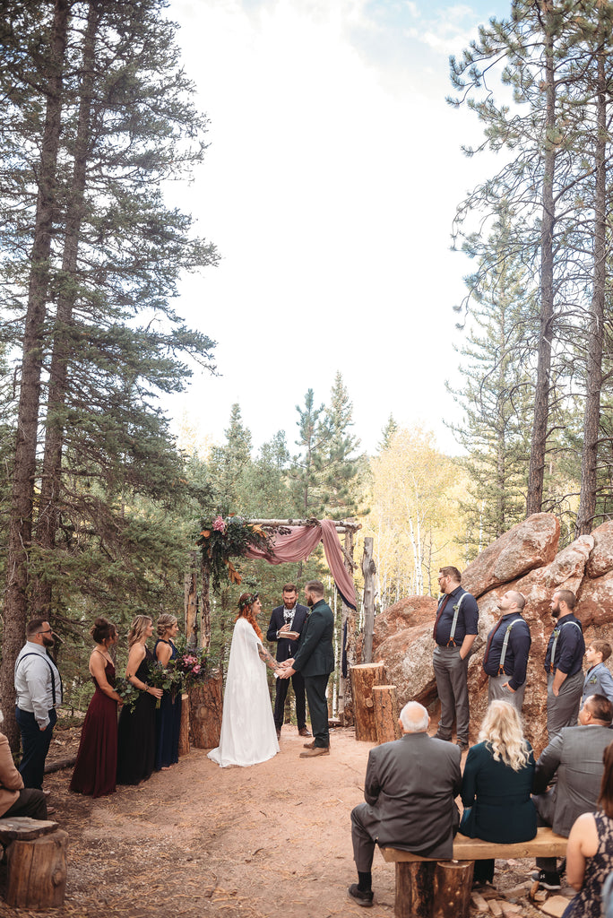 Christine Alaniz Designs - Kadi and Ben Wedding, Ceremony Among the Trees