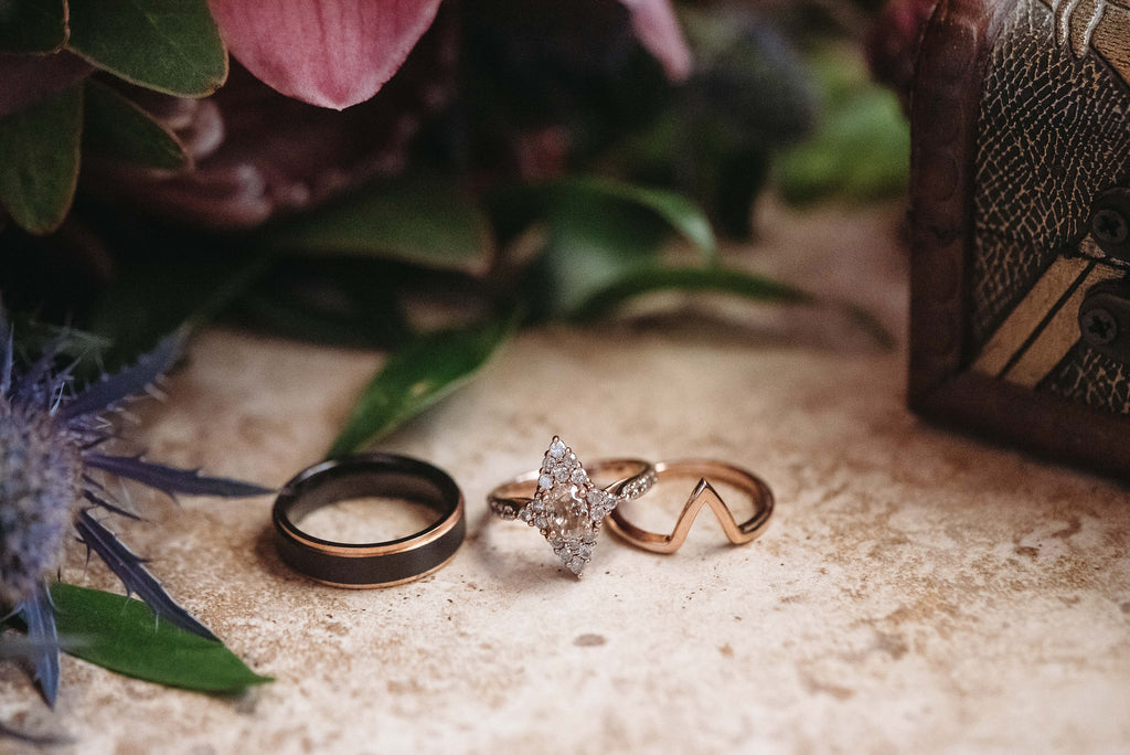 Christine Alaniz Designs - Kadi and Ben Wedding, Rose Gold Wedding Ring