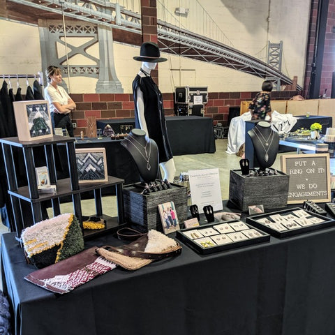 Christine Alaniz Designs - Marie Forleo Book Tour Everything is Figureoutable Craft Show Booth