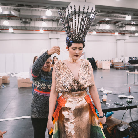 Christine Alaniz Designs - Salon du Chocolate 2019 Runway Show Preparation