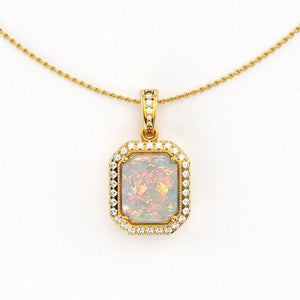Cheryl's Opal and Diamond Pendant (1 of 2)