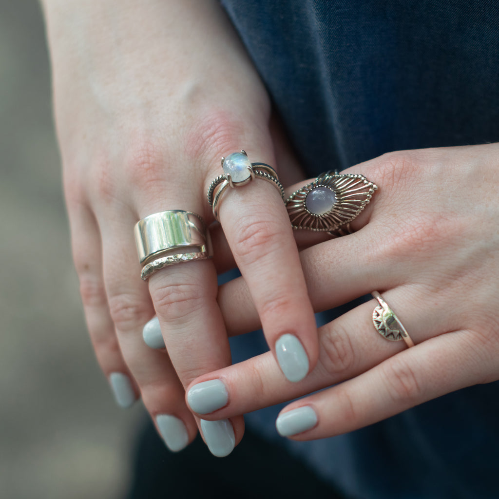 Darkling X Moonstone Ring