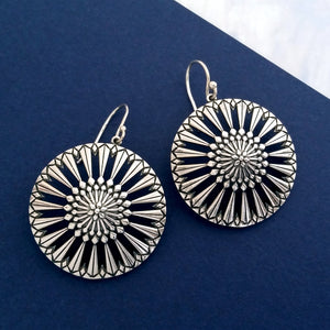 Magnolia Circle Drop Earrings