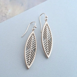 Magnolia Leaf Earrings