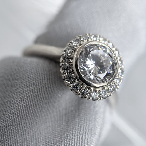 Camille Halo Engagement Ring