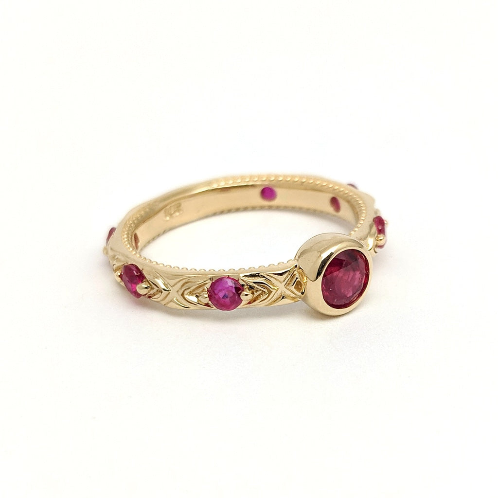 40th Anniversary Ruby Ring in Yellow Gold