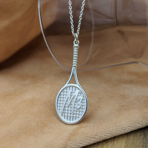 Tennis Racket Necklace for a Tennis Superstar