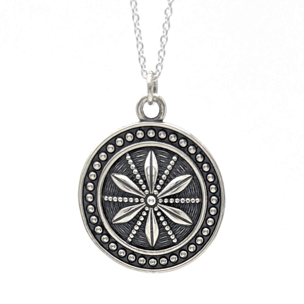 Star Anise Coin Medallion Pendant