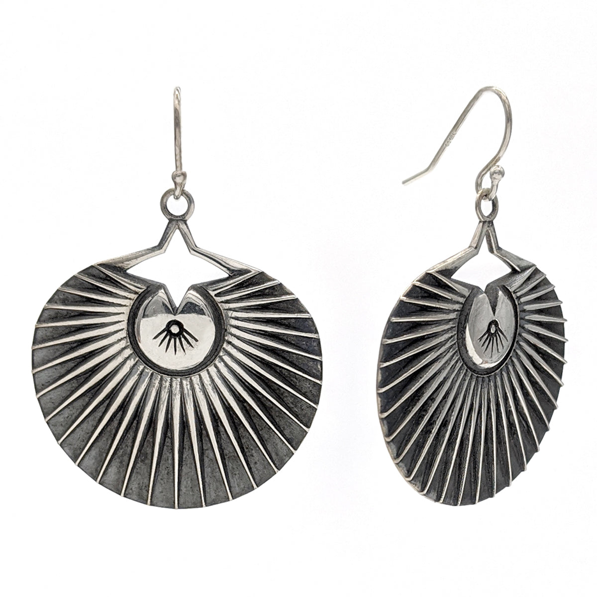 Fan Palm Circle Drop Earrings