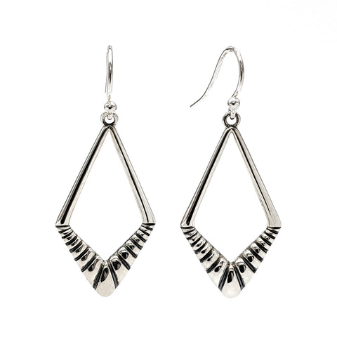 Darkling Diamond Drop Earrings