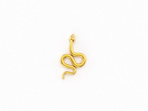 14kt Yellow Gold Snake Earring