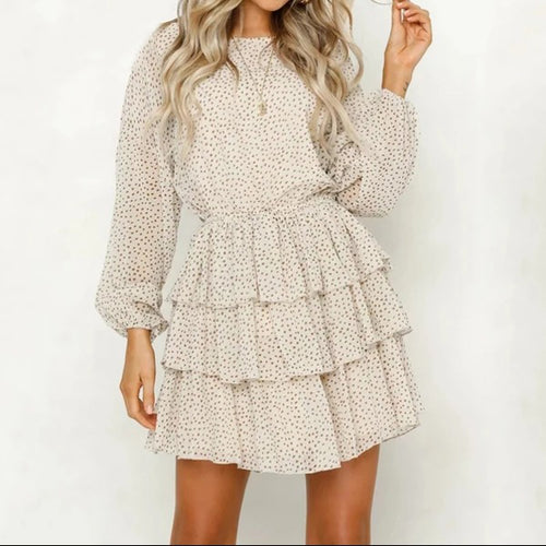 Polka Dot & Floral Women Mini Party Dress