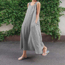 . Fashion Check Summer Dress Women's Sundress