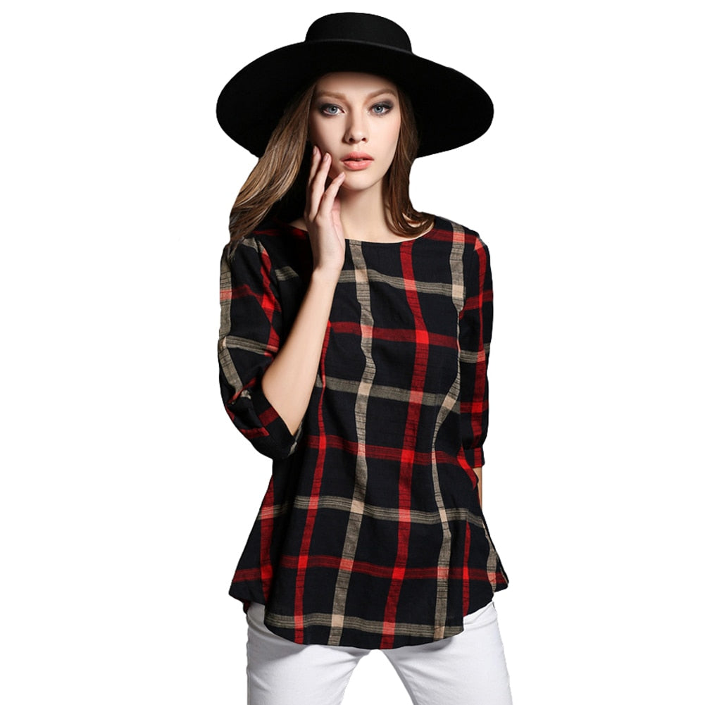 Autumn Winter Long Pullover Ladies Blouse