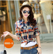 New fashion arrivals Spring and Autumn women cotton shirt