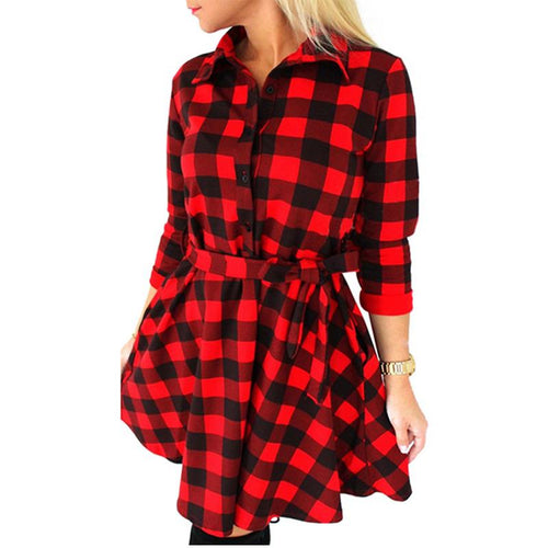 Fashion Women Long Sleeve Short Dress