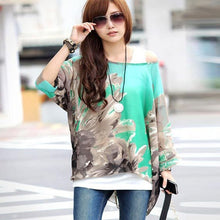 Summer Tops for Women New Style Striped Print Casual Blouse Shirt