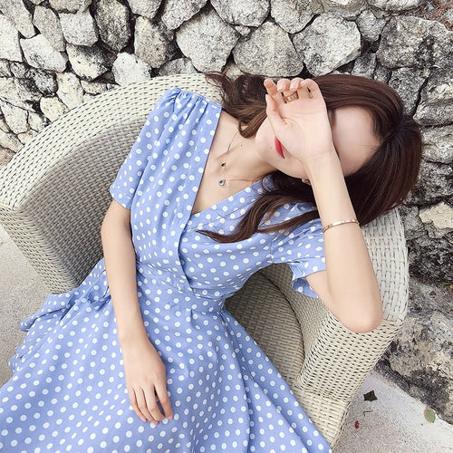 Women Retro Dress Polka Dot