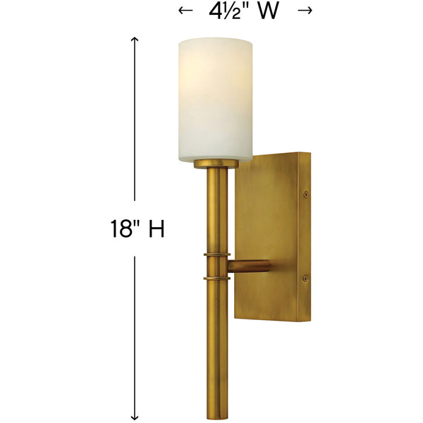 Hinkley 3580VS Margeaux Wall Sconce Vintage Brass