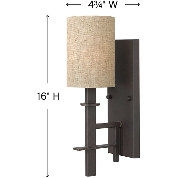 Hinkley 4540RB Sloan Wall Sconce Regency Bronze