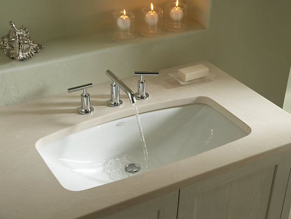 Kohler K-2885-8-47 Man's Lav Undermount Sink Cast Iron Almond