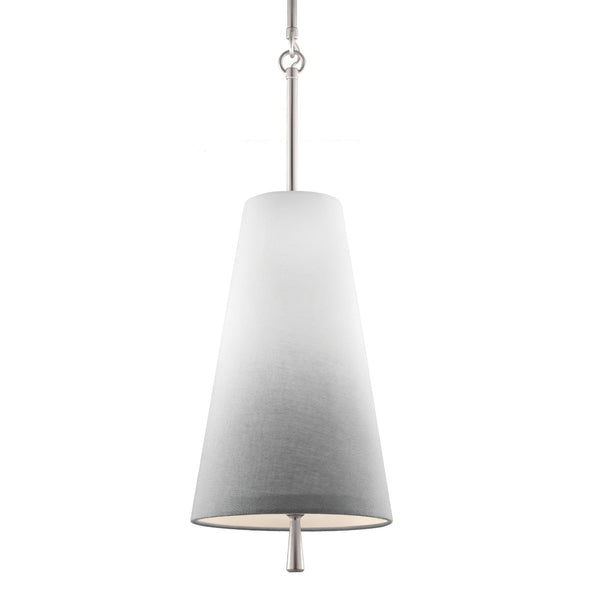 Feiss P1327SN Tori Mini Pendant Ombre Linen/Satin Nickel