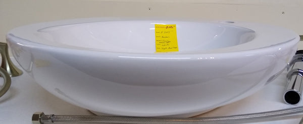Bordean Ovalegg 4742-WH Vessel Sink White