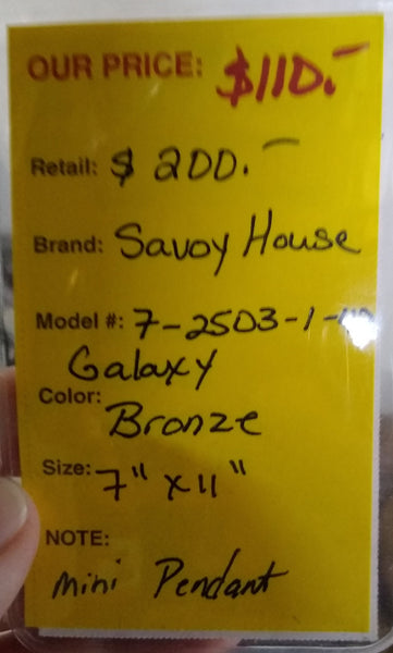 Savoy House 7-2503-1-42 Galaxy Pendant Bronze