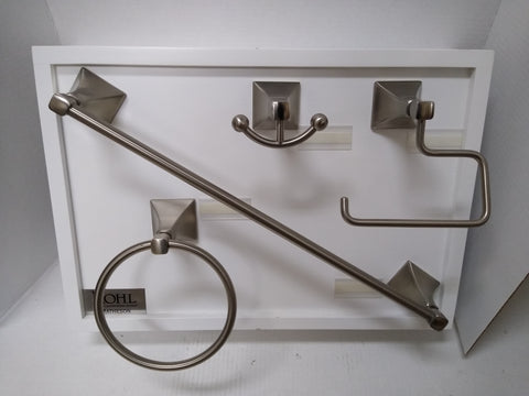 Rohl Matheson Collection Bath Accessory Set Satin Nickel