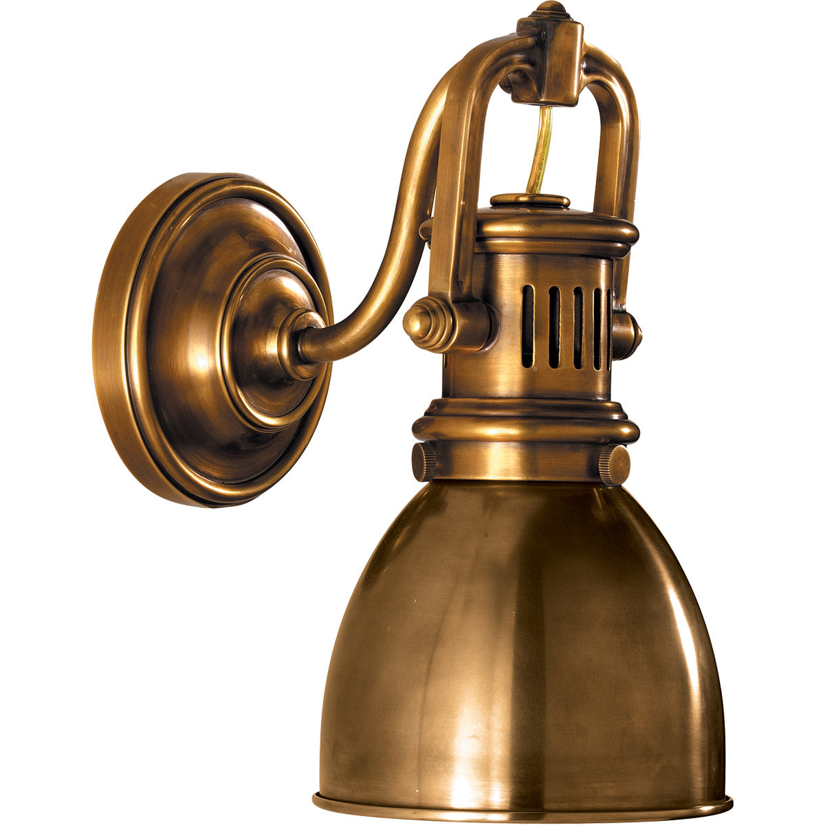 Visual Comfort SL2975HAB-HAB EF Chapman Yoke Wall Sconce Antique Brass