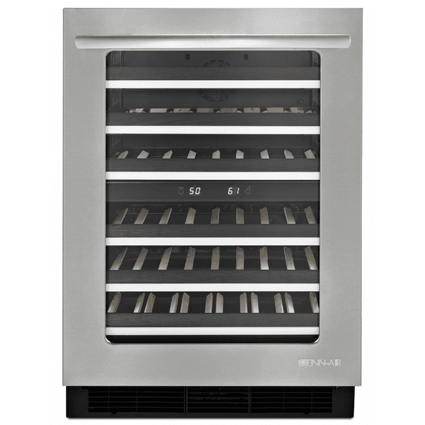 "Jenn Air JUW24FLERS Euro-Style 24"" Under Counter Wine Cellar Stainless/Glass"