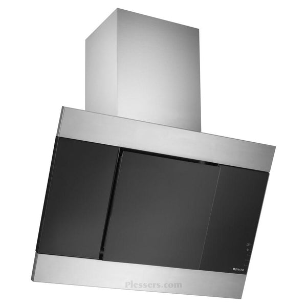 "Jenn Air JXP5032WS Glass Collection 32"" Range Hood Black Glass Stainless Steel"