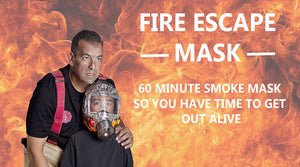 Firemask allows you to breathe for 60 minutes in smoke and fire