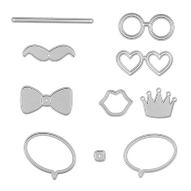 July Dies Photo Booth Props set of 8