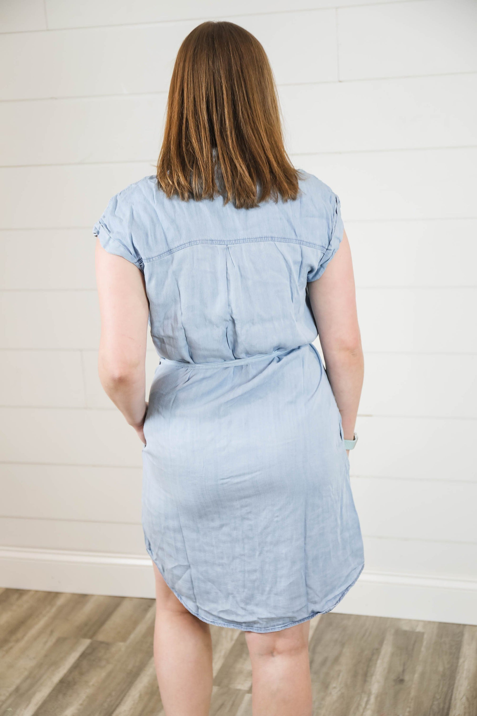 The Chelsea Denim Button Down Dress Dress staccato