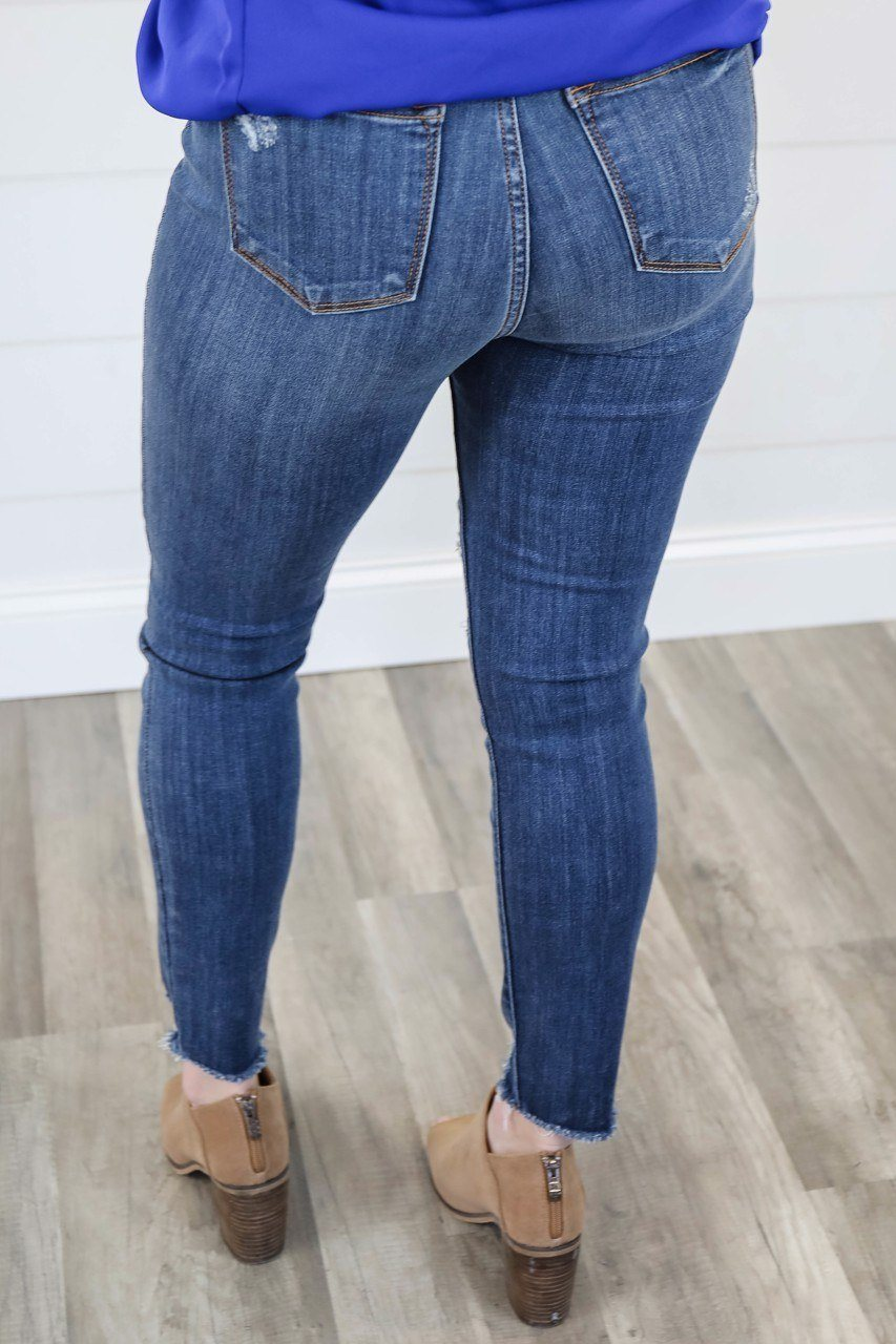 The Penelope Judy Blue Distressed Skinny Jeans up to Plus Skinny Jean Judy Blue