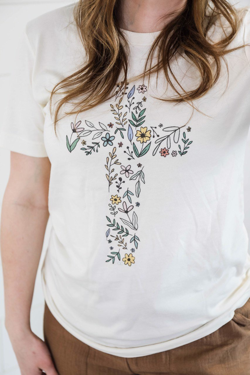 The Floral Cross Graphic Tee up to Plus Short sleeve Other