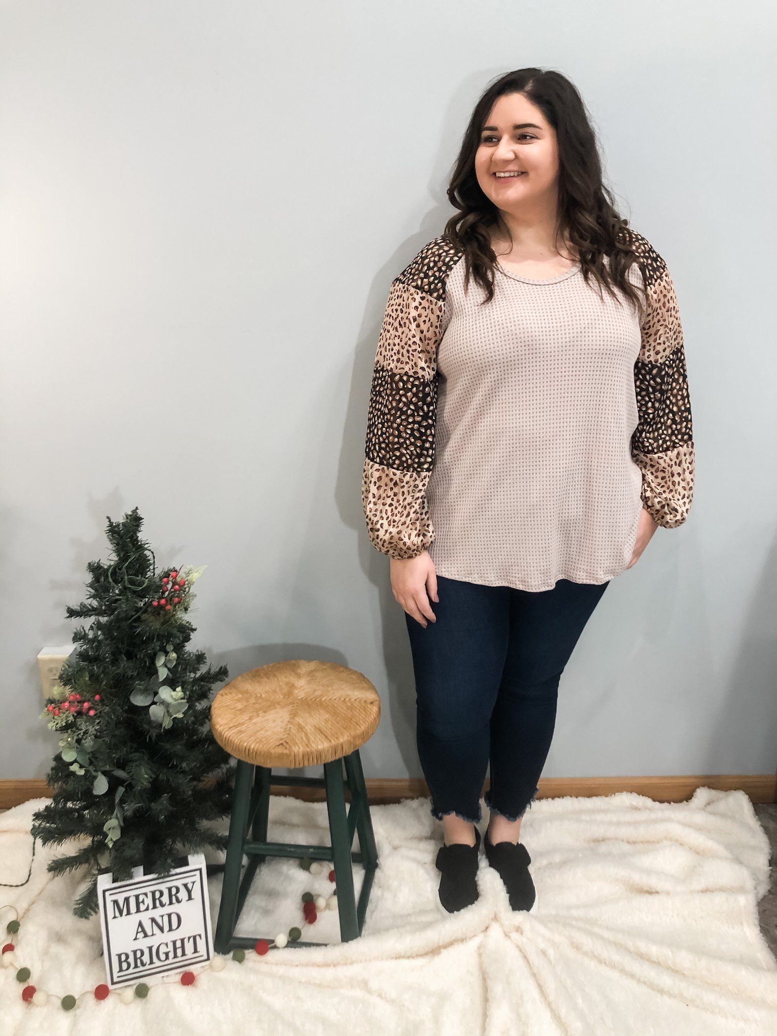 Glitz and Glam Taupe Top Long sleeve Other
