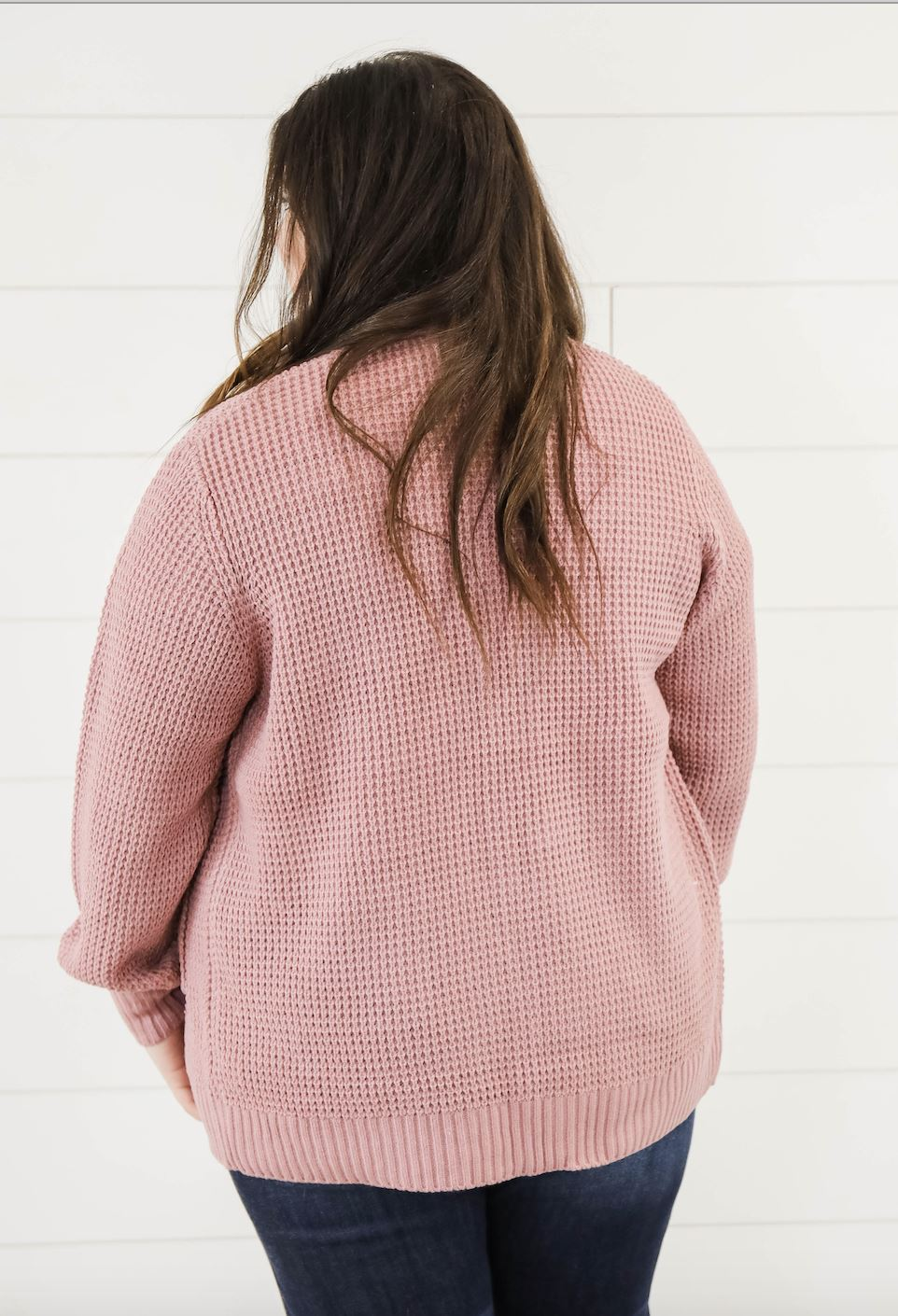 The Chloe Knit Cardigan in Light Rose Cardigan Zenana
