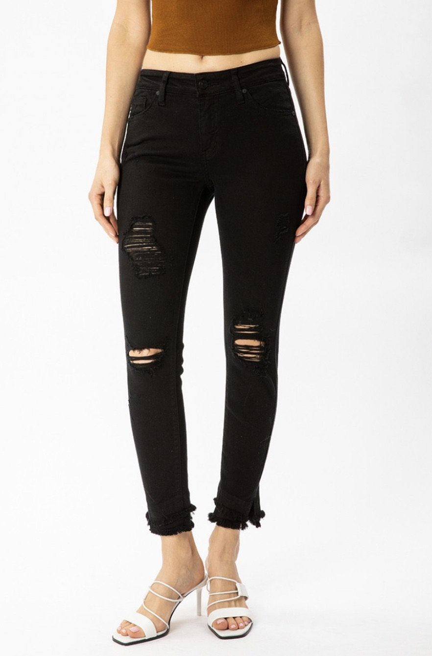 The Payton Kancan Distressed Black Skinny Jeans Skinny Jean KanCan