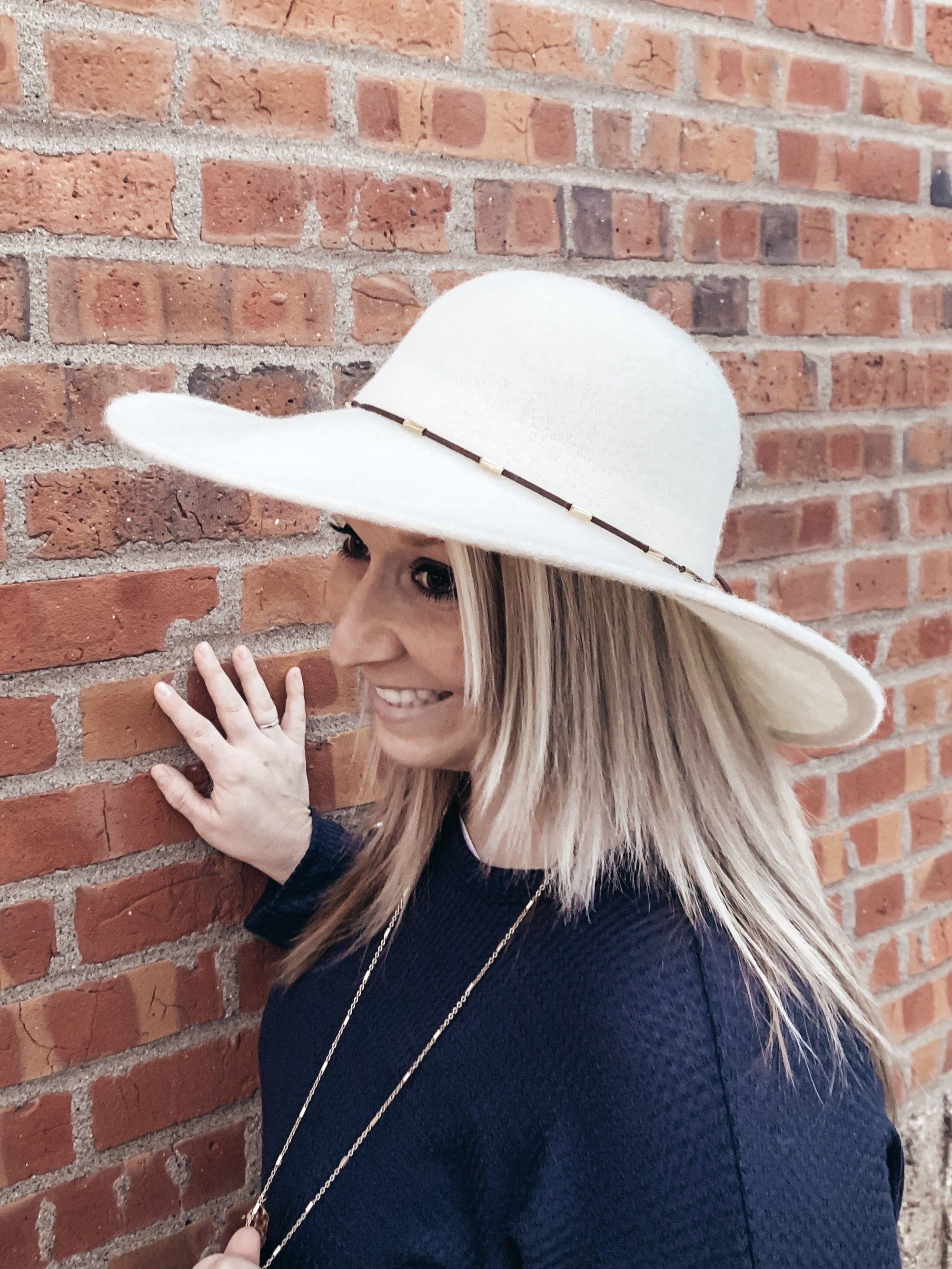 Dressed in Ivory Wool Floppy Hat Accessories Urbanista
